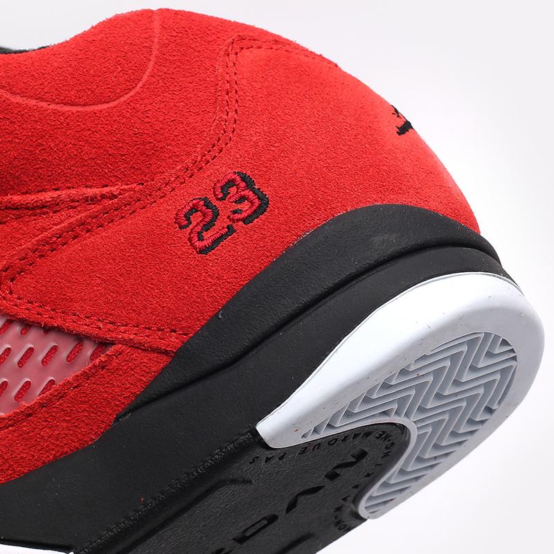 детские красные  кроссовки jordan 5 retro (ps) 440889-600 - цена, описание, фото 5