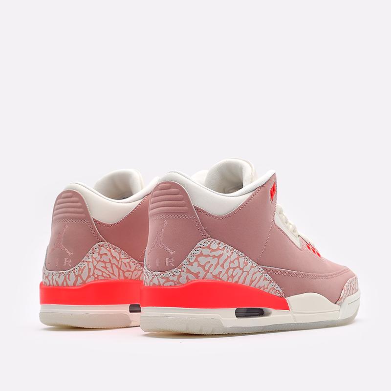 женские розовые  кроссовки jordan wmns 3 retro CK9246-600 - цена, описание, фото 3