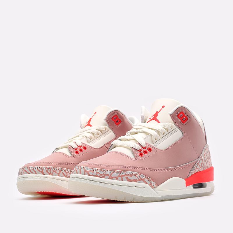 женские розовые  кроссовки jordan wmns 3 retro CK9246-600 - цена, описание, фото 4