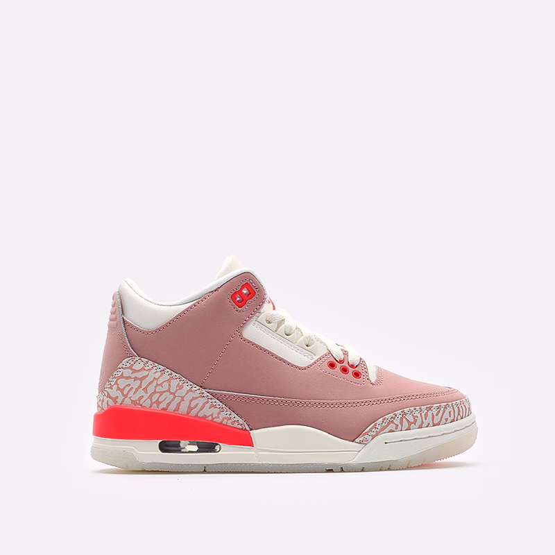 женские розовые  кроссовки jordan wmns 3 retro CK9246-600 - цена, описание, фото 1