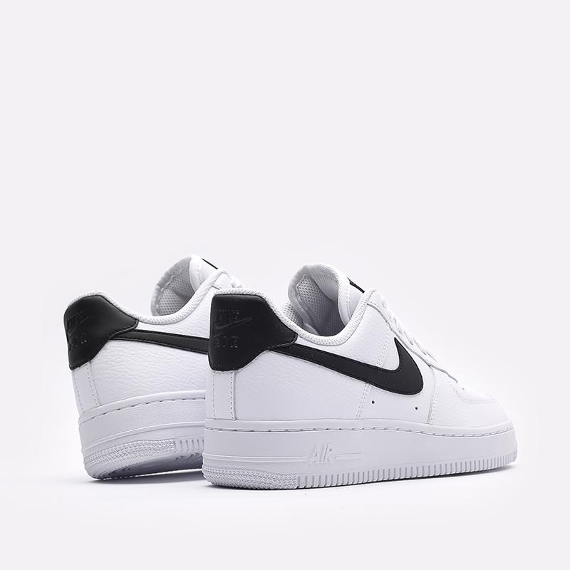 женские белые, чёрные  кроссовки nike wmns air force 1 '07 315115-152 - цена, описание, фото 4