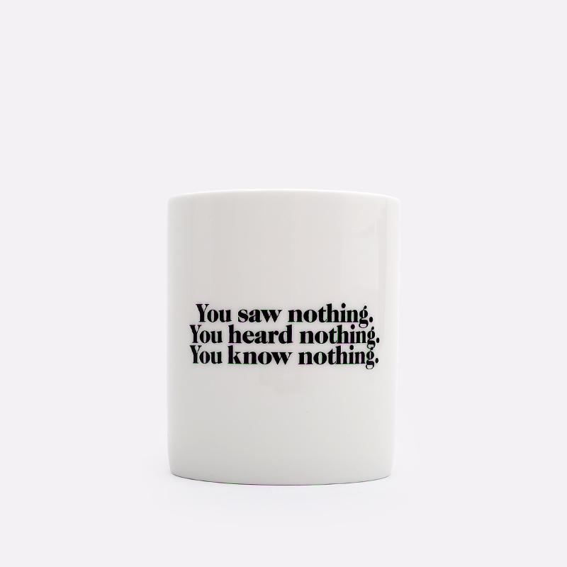 белую  кружка carhartt wip nothing mug I029233-white - цена, описание, фото 2