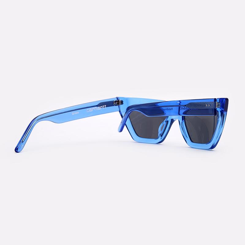 синий  солнцезащитные очки carhartt wip grace I028340-blue/grey - цена, описание, фото 2