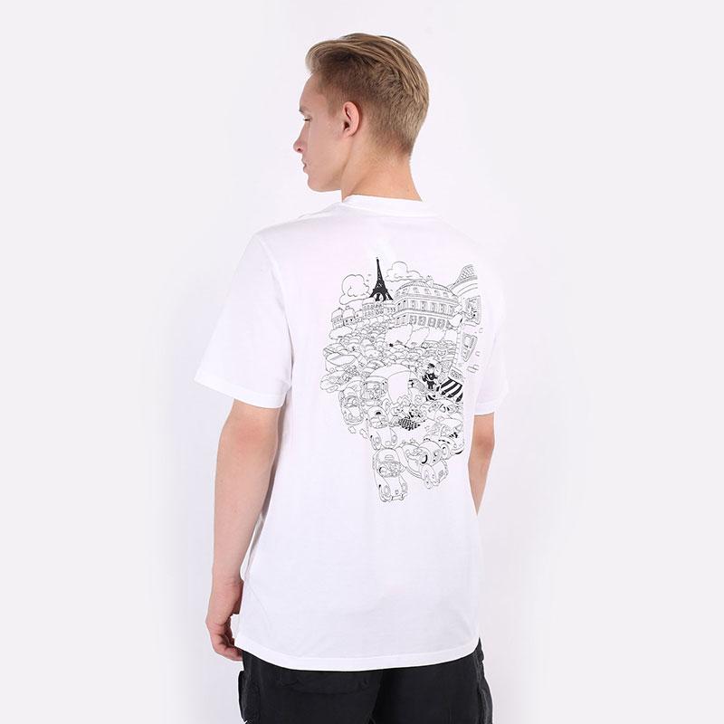 мужскую белую  футболка carhartt wip s/s picnic in paris t-shirt I029932-white - цена, описание, фото 5