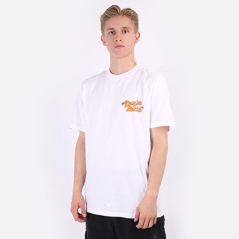 мужскую белую  футболка carhartt wip s/s picnic in paris t-shirt I029932-white - цена, описание, фото 1