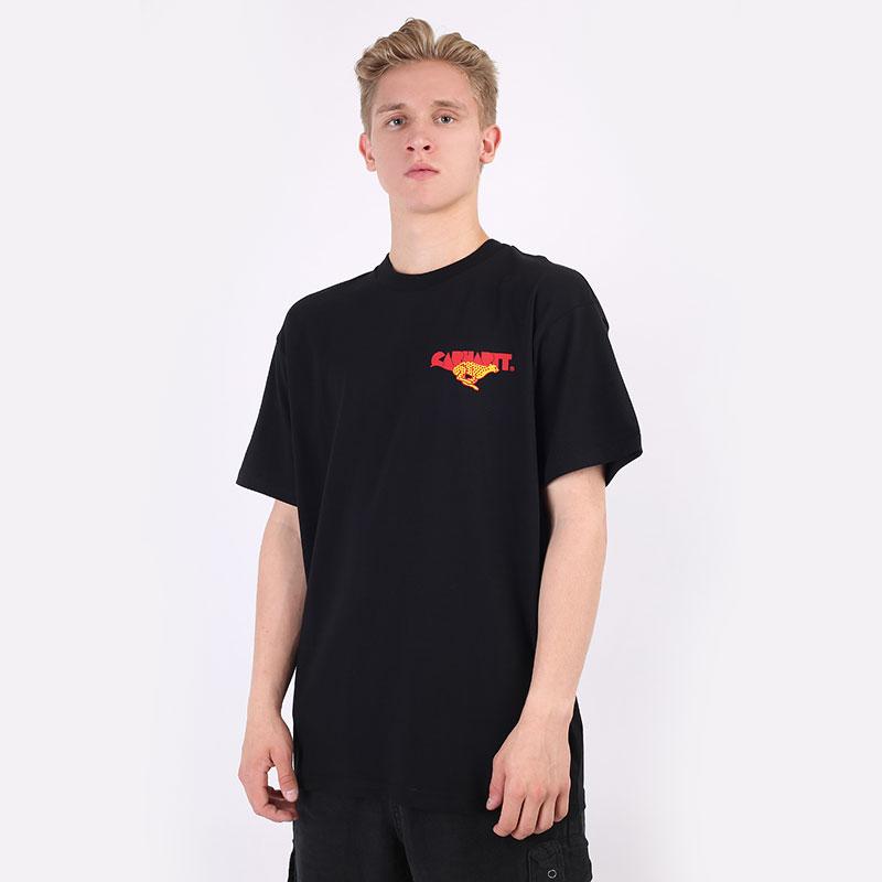 мужскую черную  футболка carhartt wip s/s runner t-shirt I029934-black - цена, описание, фото 1
