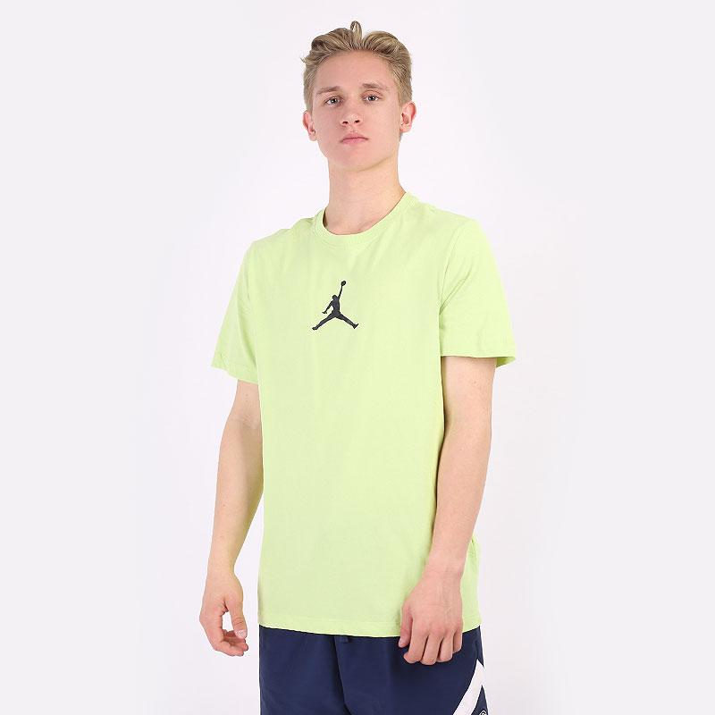 мужскую салатовую  футболка jordan jumpman dri-fit CW5190-352 - цена, описание, фото 1