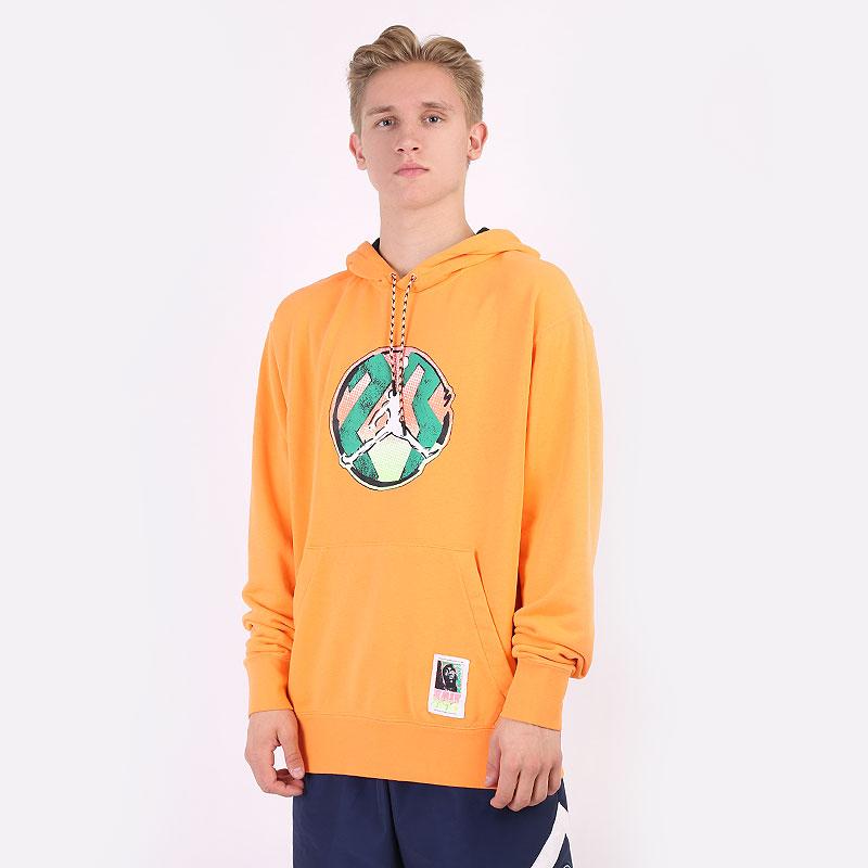 мужскую оранжевую  толстовка jordan sport dna washed pullover hoodie CZ4835-858 - цена, описание, фото 1