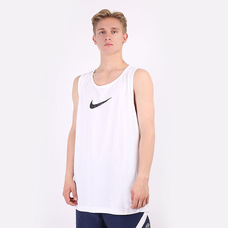 мужскую белую  майку nike dry basketball top AJ1431-100 - цена, описание, фото 1