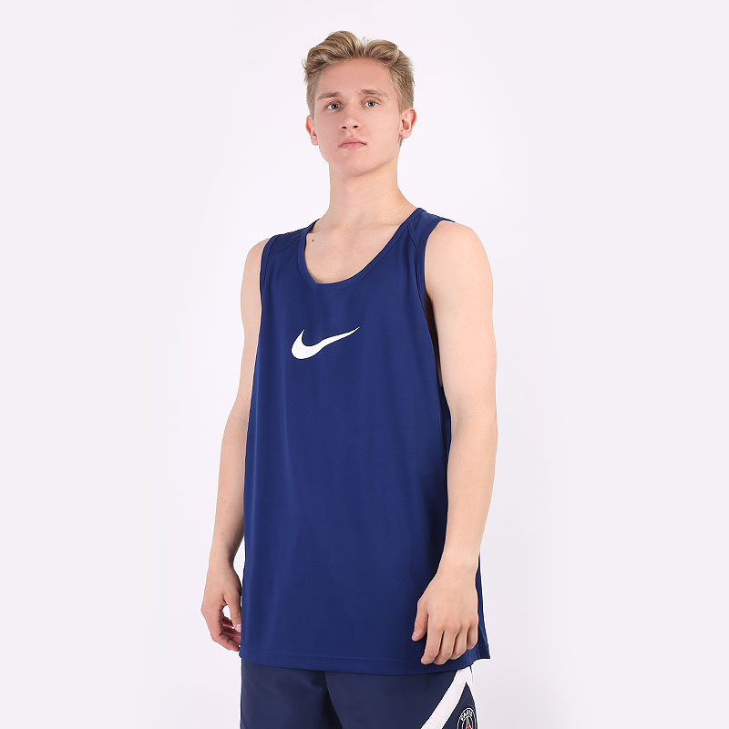 мужскую синюю  майку nike dry basketball top AJ1431-492 - цена, описание, фото 1
