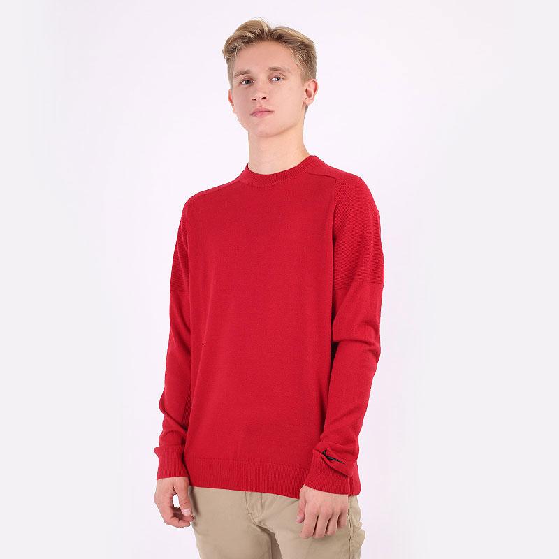 мужской красный  свитер nike tiger woods knit golf jumper CU9782-687 - цена, описание, фото 1