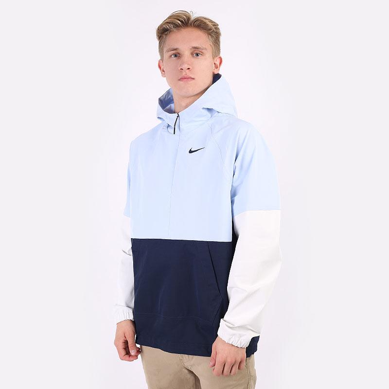 мужскую разноцветную  куртку nike golf repel hooded anorak jacket CU9773-407 - цена, описание, фото 1