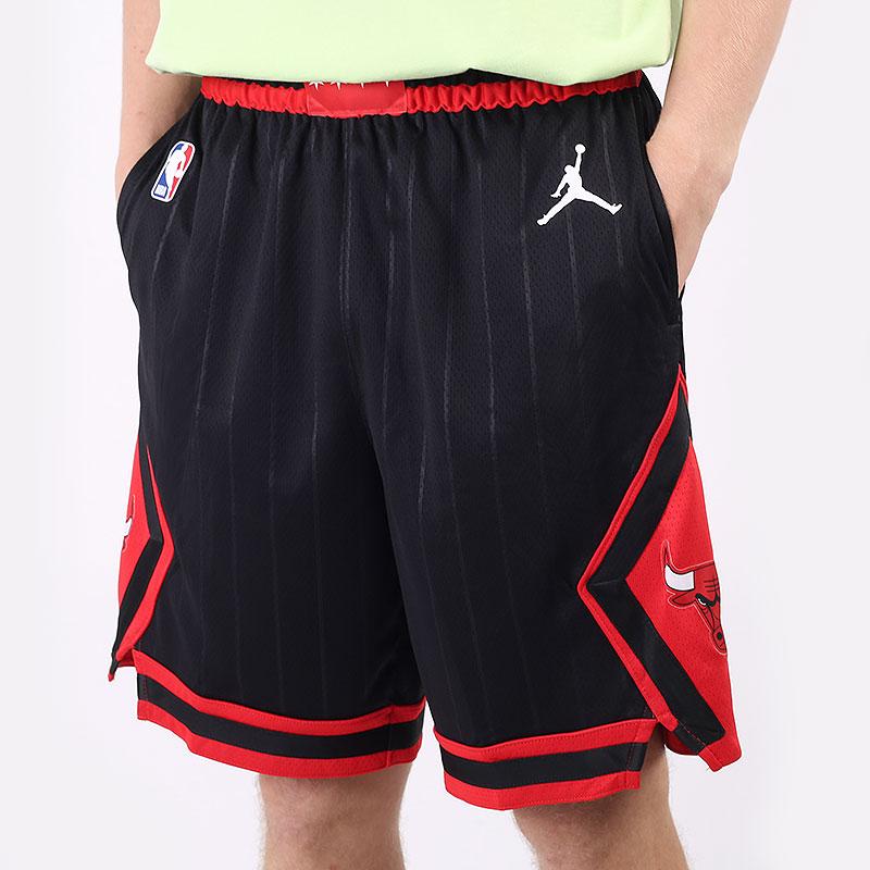 мужские черные  шорты  jordan chicago bulls statement edition jordan nba short CV9555-010 - цена, описание, фото 1