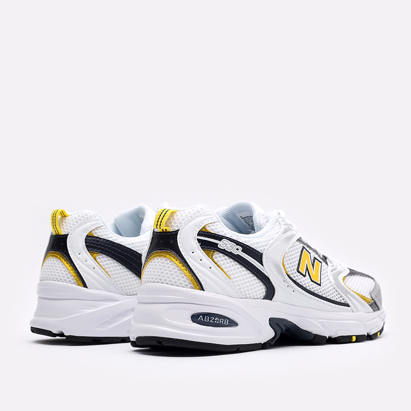 мужские белые  кроссовки new balance 530 MR530UNX/D - цена, описание, фото 3