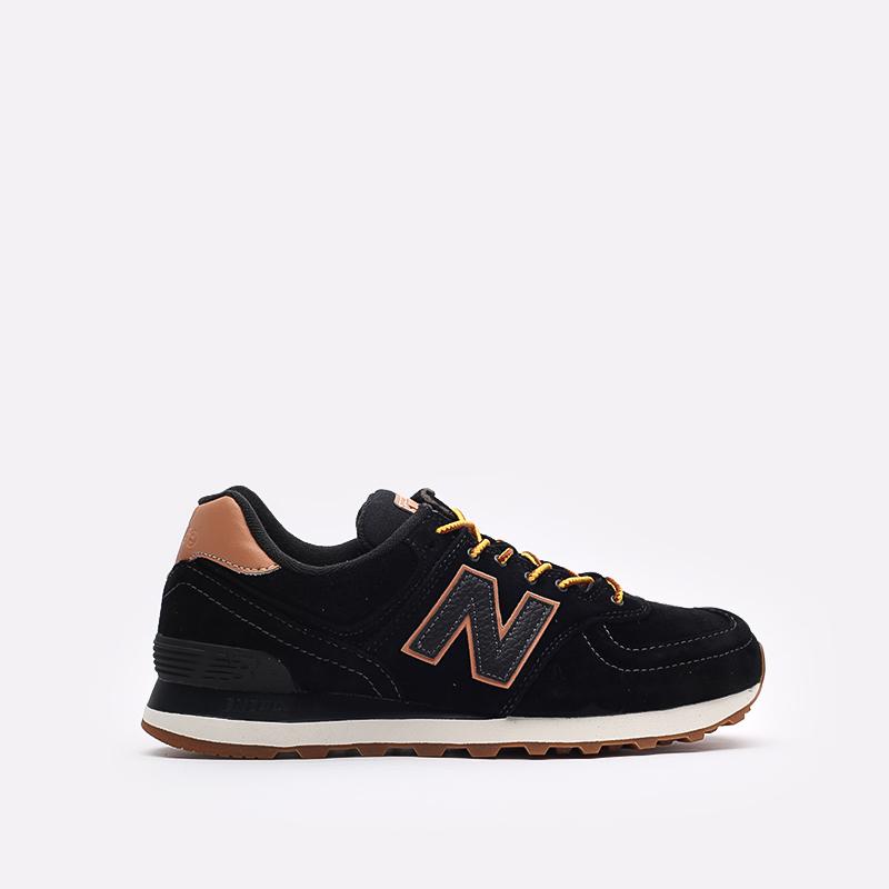 мужские чёрные  кроссовки new balance 574 ML574XAB/D - цена, описание, фото 1