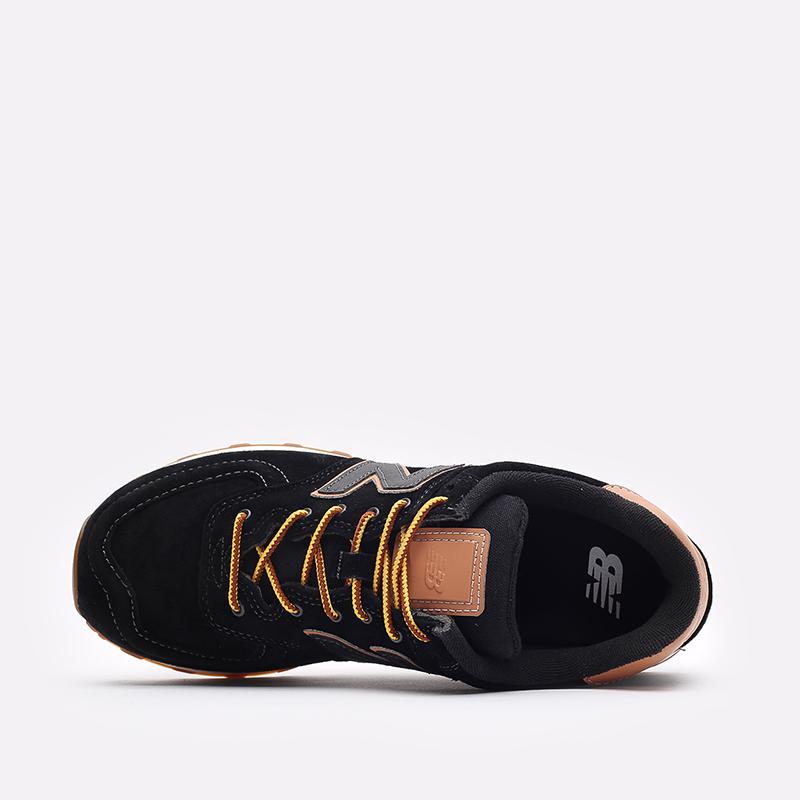 мужские чёрные  кроссовки new balance 574 ML574XAB/D - цена, описание, фото 6