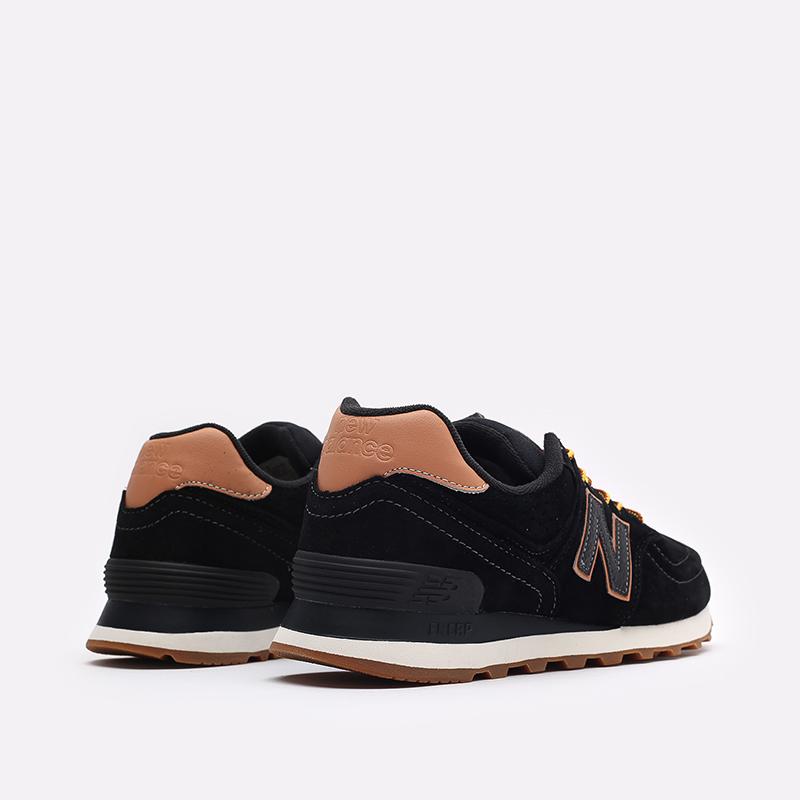 мужские чёрные  кроссовки new balance 574 ML574XAB/D - цена, описание, фото 3