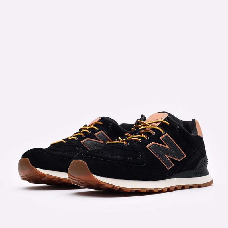 мужские чёрные  кроссовки new balance 574 ML574XAB/D - цена, описание, фото 4