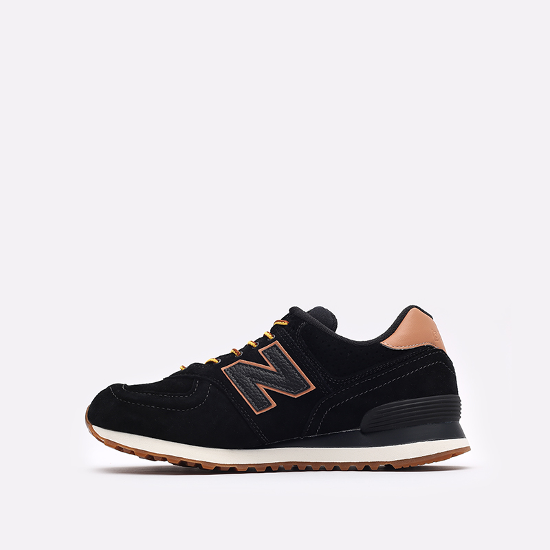 мужские чёрные  кроссовки new balance 574 ML574XAB/D - цена, описание, фото 2