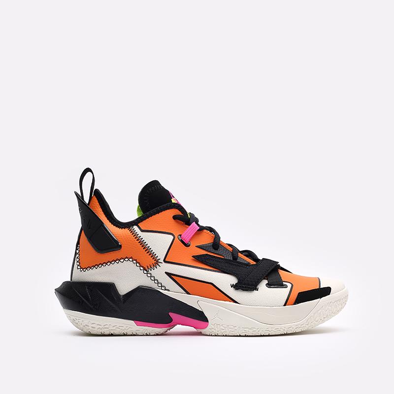 мужские оранжевые, чёрные  кроссовки jordan why not zero.4 DD4887-100 - цена, описание, фото 1