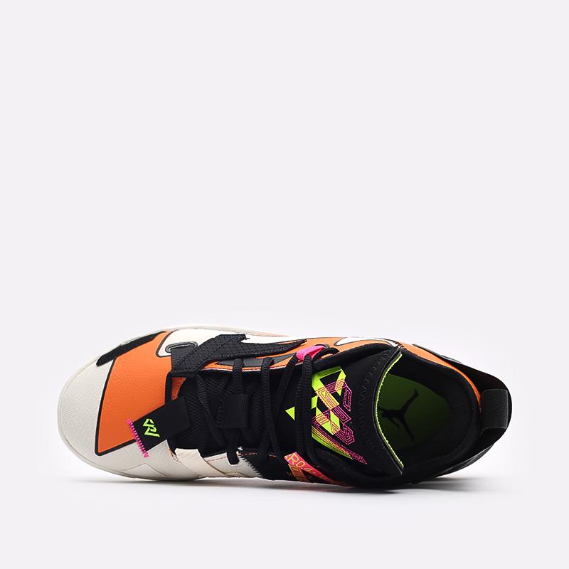мужские оранжевые, чёрные  кроссовки jordan why not zero.4 DD4887-100 - цена, описание, фото 6