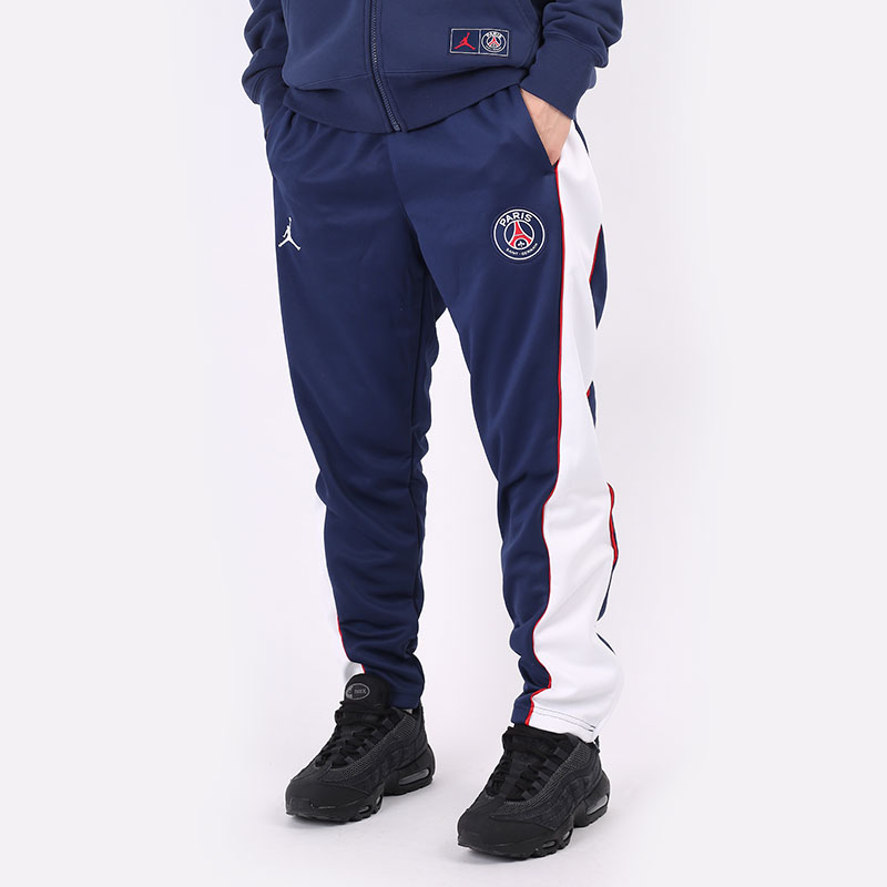 мужские синие  брюки jordan paris saint-germain suit pant DB6500-410 - цена, описание, фото 1