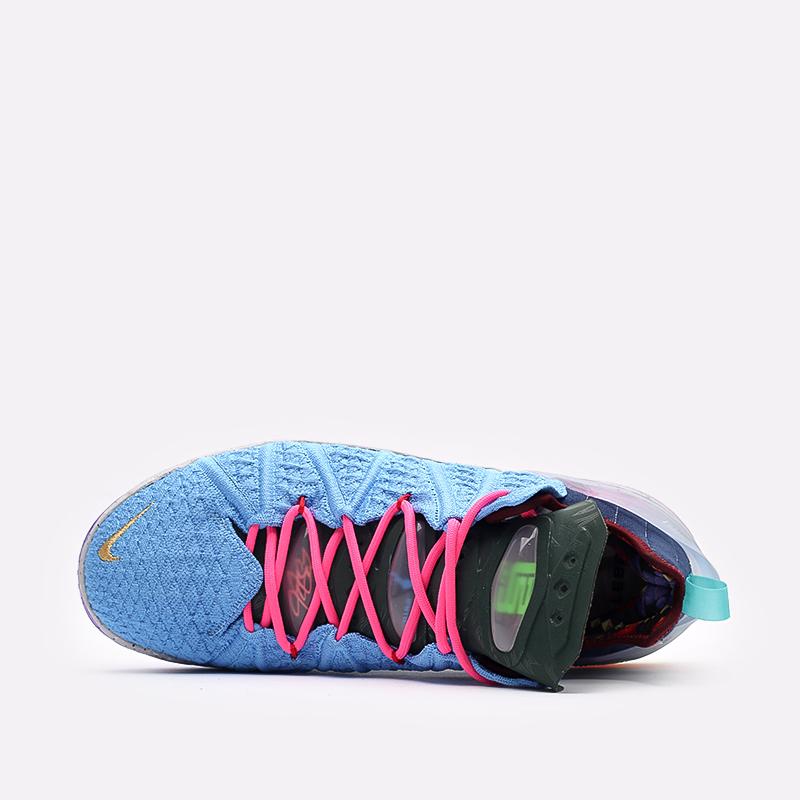 мужские голубые  кроссовки nike lebron xviii DM2813-400 - цена, описание, фото 4