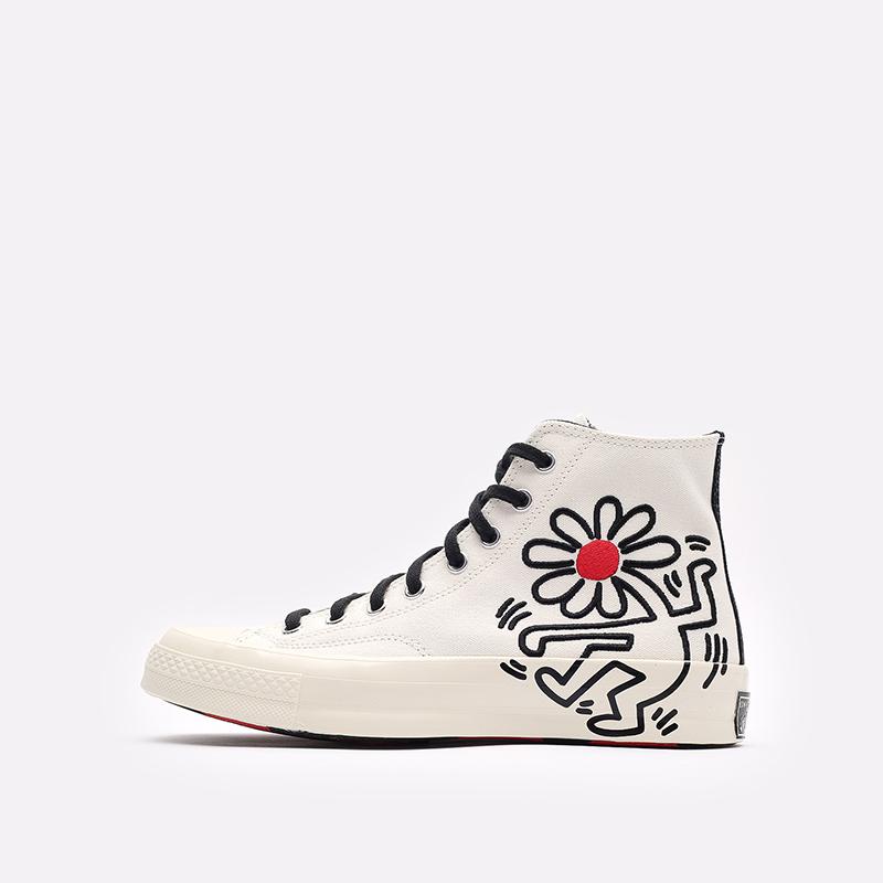 белые кеды Converse Chuck 70 Hi x Keith Haring 171858 - цена, описание, фото 2