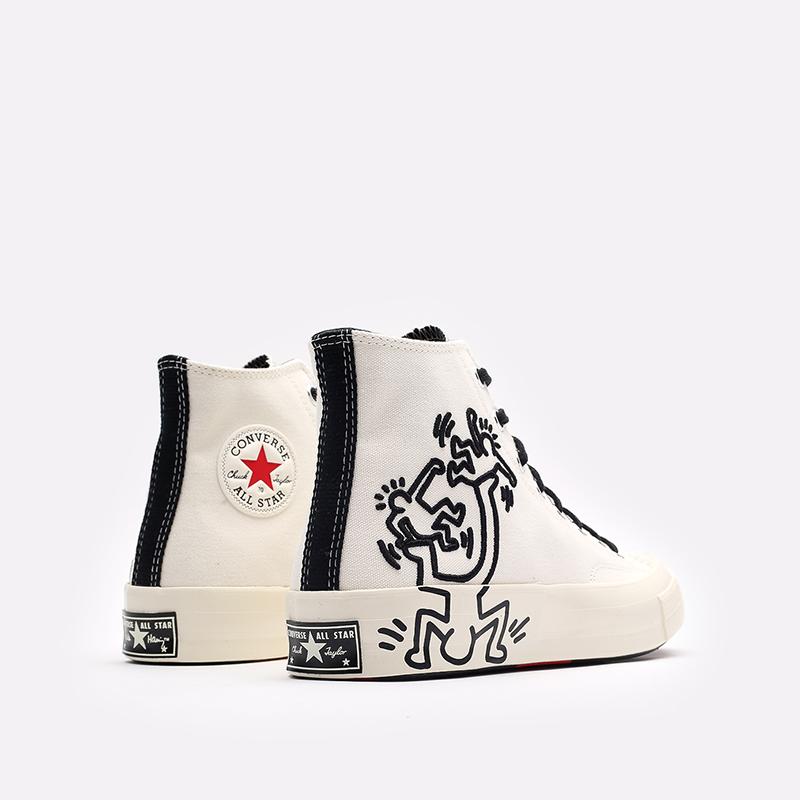 белые кеды Converse Chuck 70 Hi x Keith Haring 171858 - цена, описание, фото 3