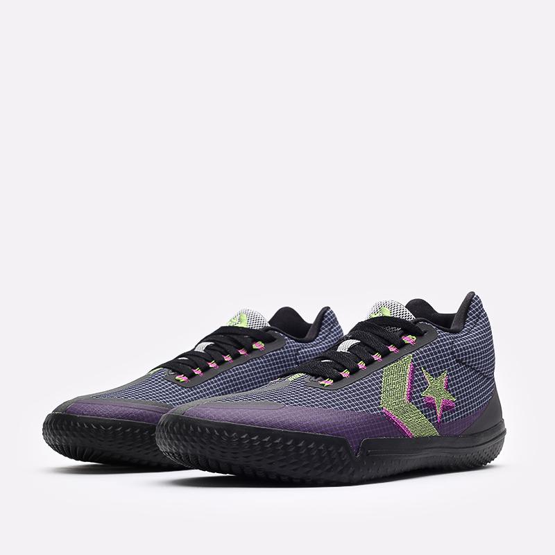 мужские синие  кроссовки converse all star bb evo mo 170763 - цена, описание, фото 4