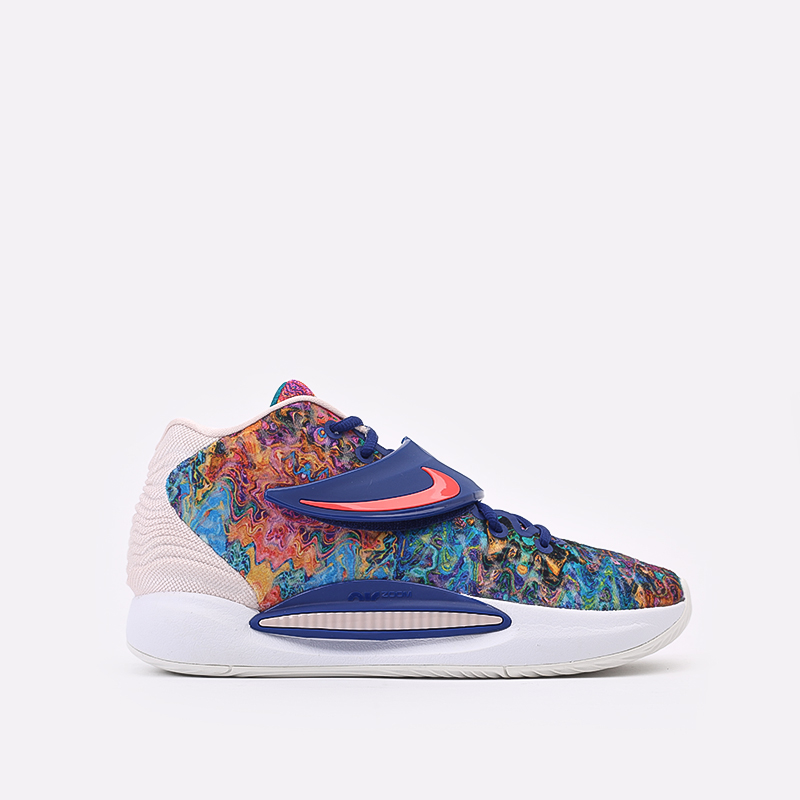 разноцветные  кроссовки nike kd14 CW3935-400 - цена, описание, фото 1