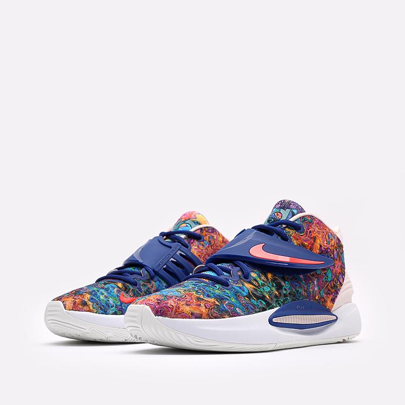 разноцветные  кроссовки nike kd14 CW3935-400 - цена, описание, фото 6