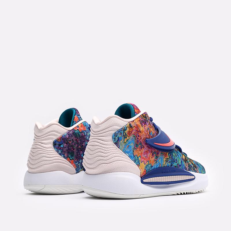 разноцветные  кроссовки nike kd14 CW3935-400 - цена, описание, фото 5