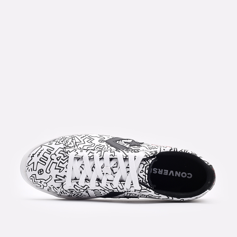белые кеды Converse Pro Leather OX x Keith Haring 171857 - цена, описание, фото 4