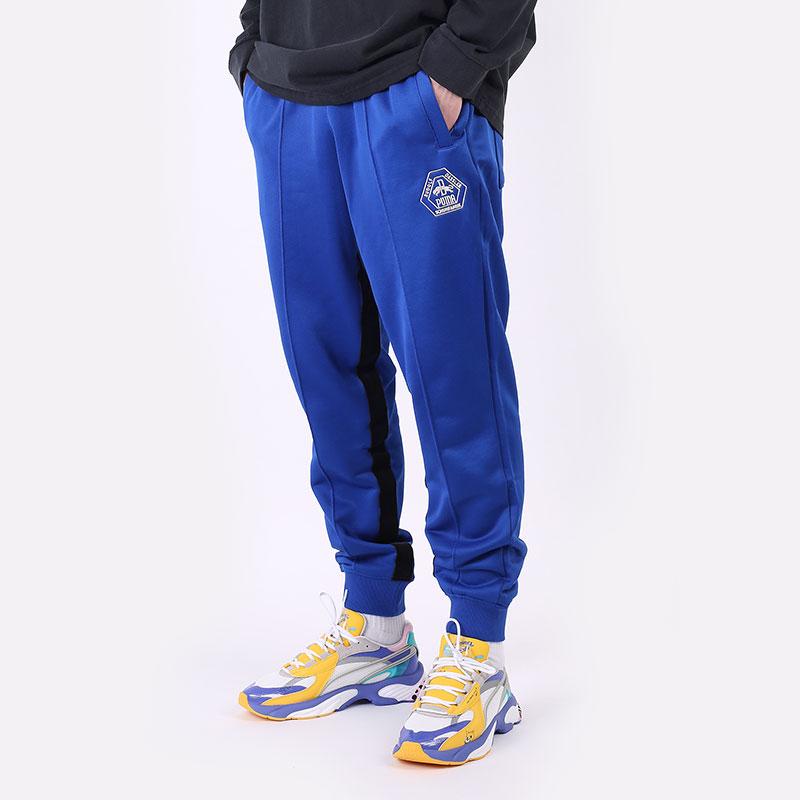 мужские синие  брюки puma rhuigi track pant 53257702 - цена, описание, фото 1