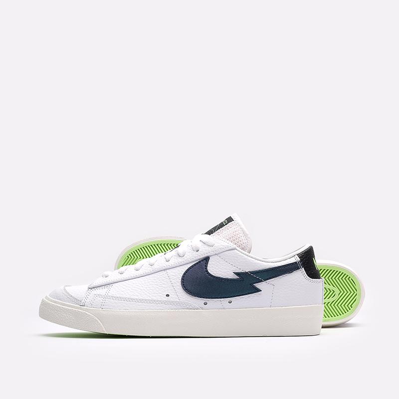 мужские белые  кроссовки nike blazer low '77 DJ6895-100 - цена, описание, фото 2