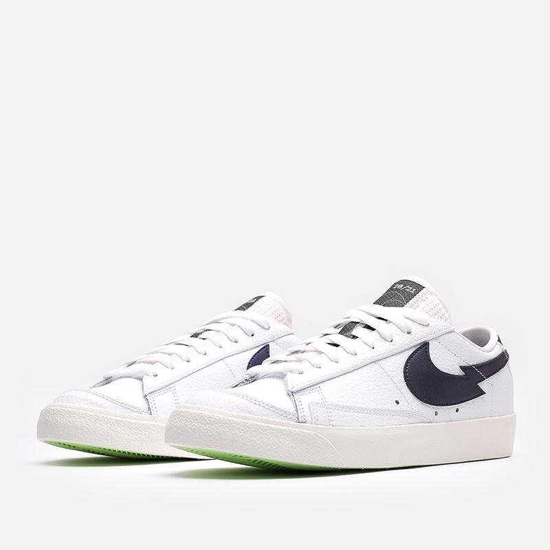 мужские белые  кроссовки nike blazer low '77 DJ6895-100 - цена, описание, фото 4