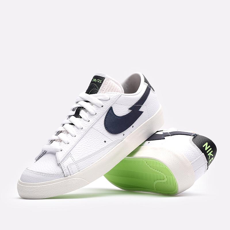 мужские белые  кроссовки nike blazer low '77 DJ6895-100 - цена, описание, фото 7