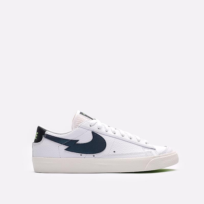 мужские белые  кроссовки nike blazer low '77 DJ6895-100 - цена, описание, фото 1