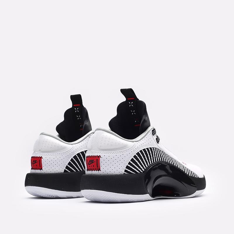 мужские белые, чёрные  кроссовки jordan xxxv low CW2460-101 - цена, описание, фото 3