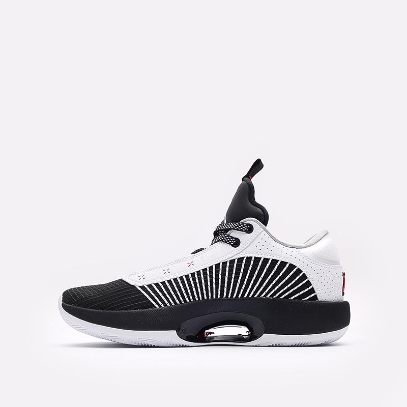 мужские белые, чёрные  кроссовки jordan xxxv low CW2460-101 - цена, описание, фото 2
