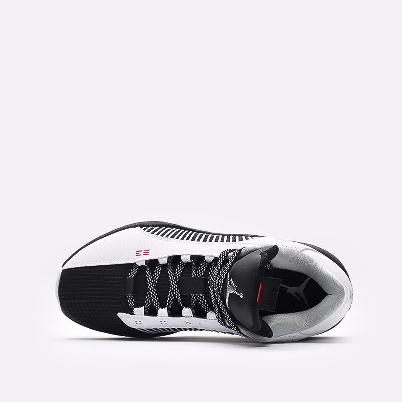 мужские белые, чёрные  кроссовки jordan xxxv low CW2460-101 - цена, описание, фото 6