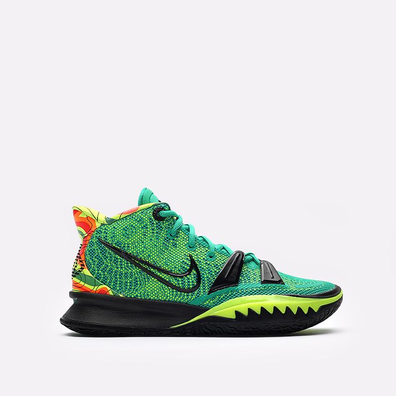 зелёные  кроссовки nike kyrie 7 CQ9326-300 - цена, описание, фото 1