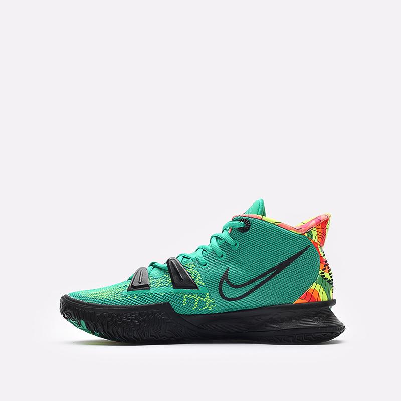 зелёные  кроссовки nike kyrie 7 CQ9326-300 - цена, описание, фото 2