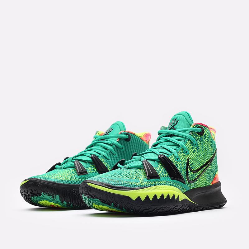 зелёные  кроссовки nike kyrie 7 CQ9326-300 - цена, описание, фото 4