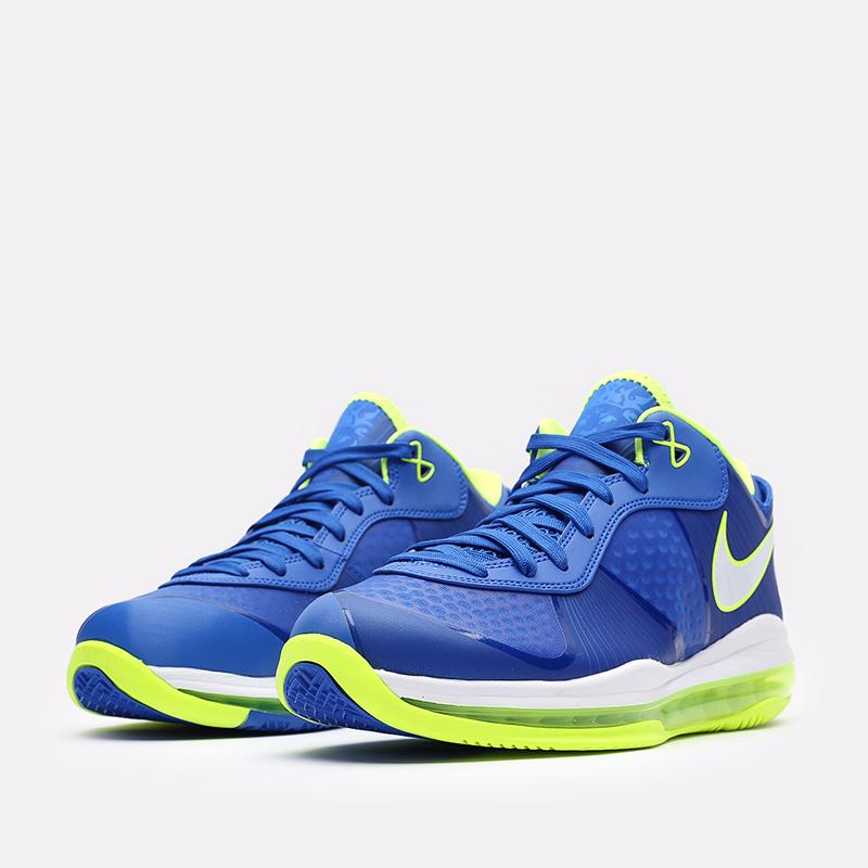 мужские синие  кроссовки nike lebron viii v/2 low qs DN1581-400 - цена, описание, фото 4