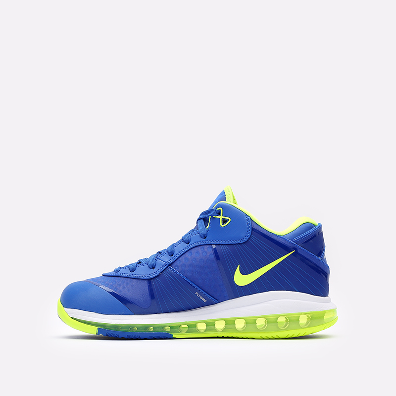 мужские синие  кроссовки nike lebron viii v/2 low qs DN1581-400 - цена, описание, фото 2