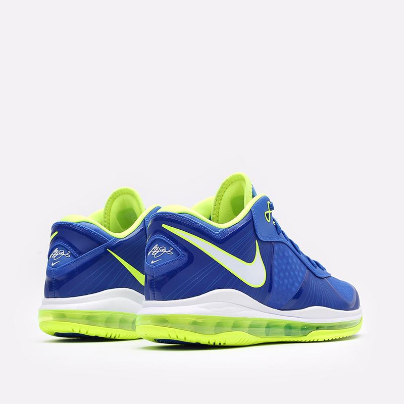 мужские синие  кроссовки nike lebron viii v/2 low qs DN1581-400 - цена, описание, фото 3
