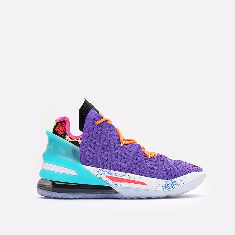 фиолетовые баскетбольные кроссовки Nike LeBron XVIII DM2813-500 - цена, описание, фото 1