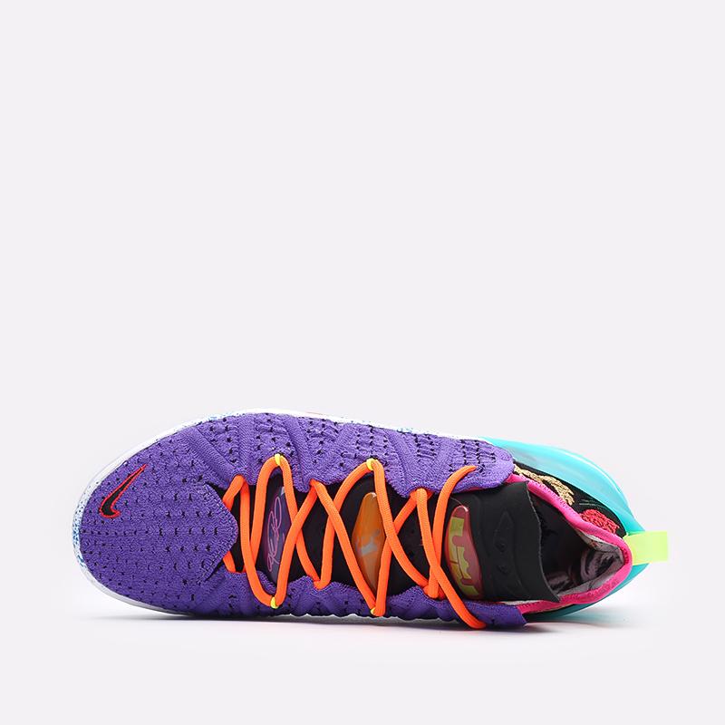 фиолетовые баскетбольные кроссовки Nike LeBron XVIII DM2813-500 - цена, описание, фото 6